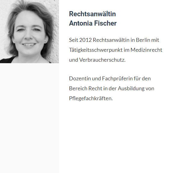 Antonia Fischer, Rechtsanwältin