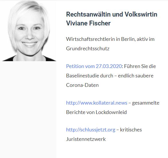 Viviane Fischer, Rechtsanwältin und Volkswirtin