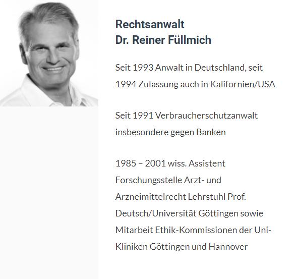 Dr. Reiner Füllmich, Rechtsanwalt
